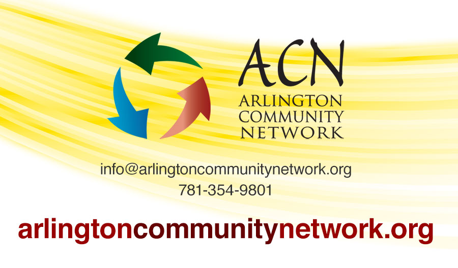 Business card for Arlington Community Network.