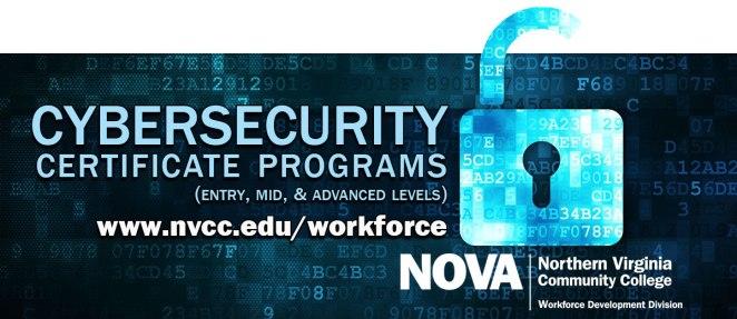 Cybersecurity certificate programs at NOVA